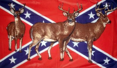 REBEL HUNTER (CONFEDERATE / DEER) - 5 X 3 FLAG